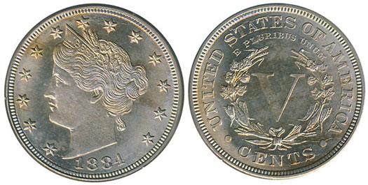 1884 Liberty Nickel