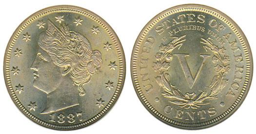 1887 Liberty Nickel